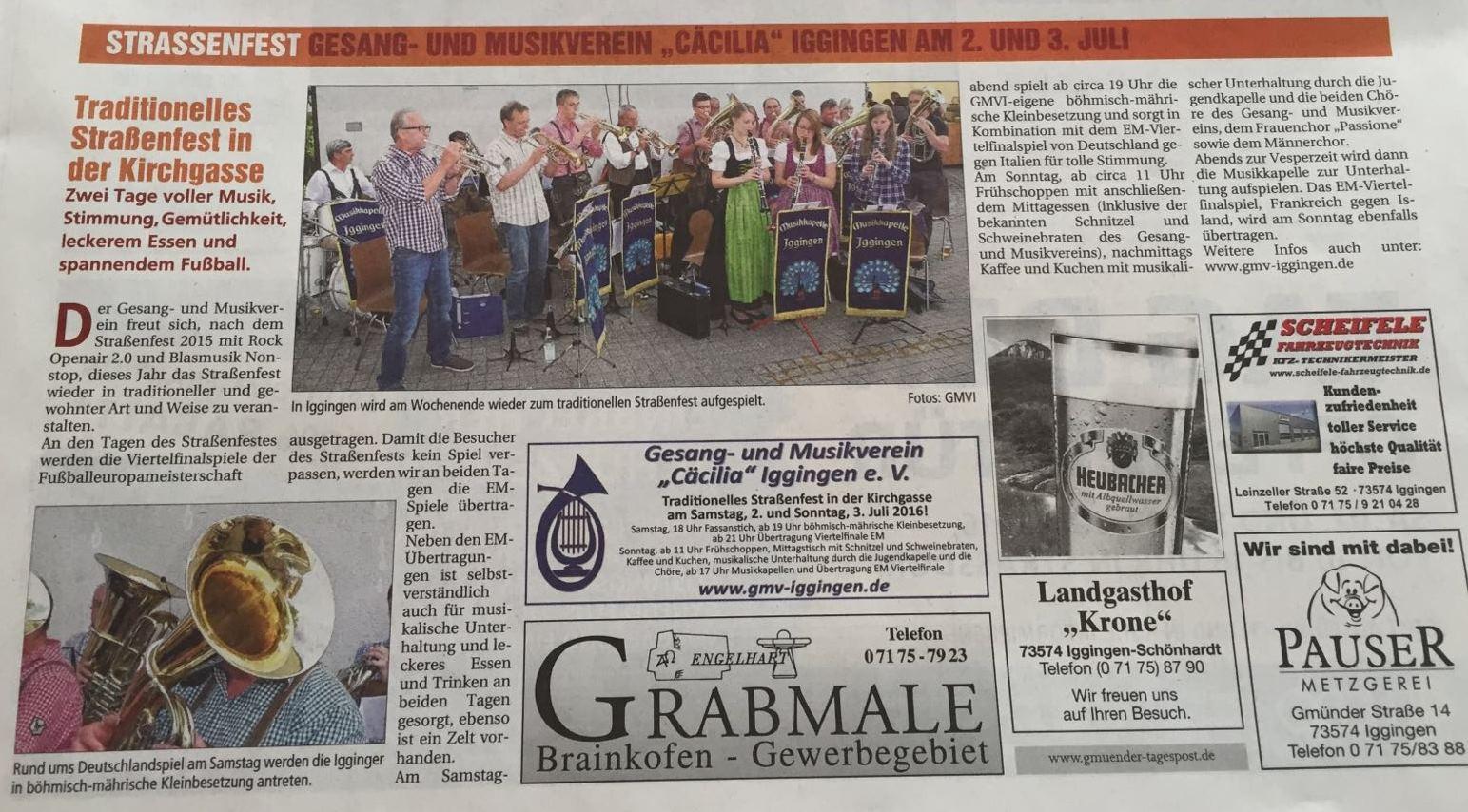 Gmünder Tagespost Sonderveröffentlichung 01.07.2016