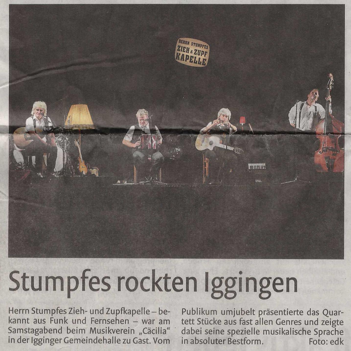 Pressebericht in der Remszeitung Stumpfes am 19.10.2015