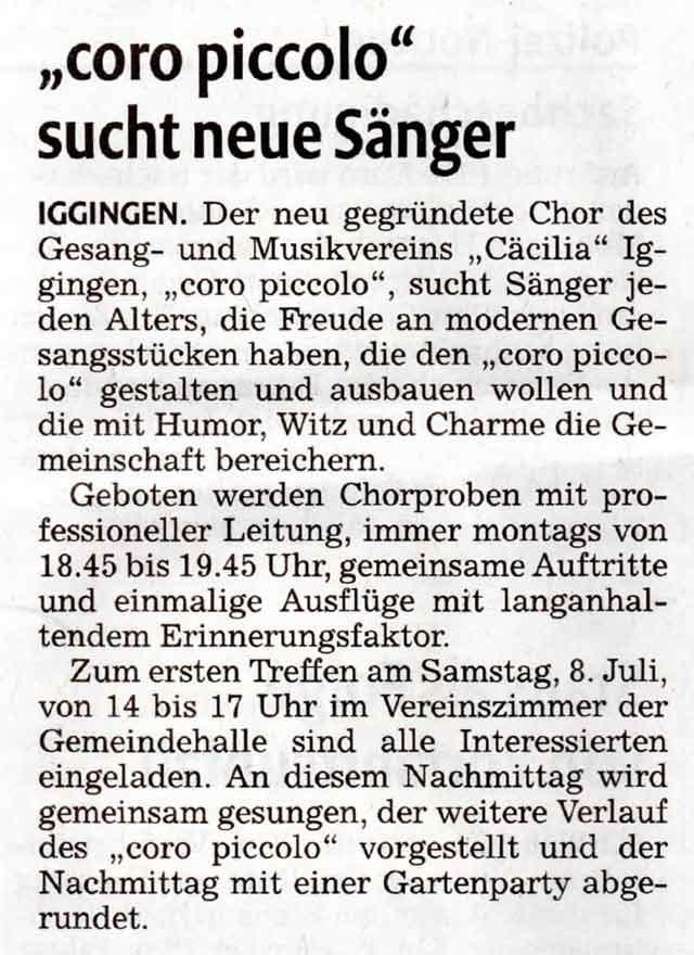 Artikel aus der Remszeitung vom 07.06.2017