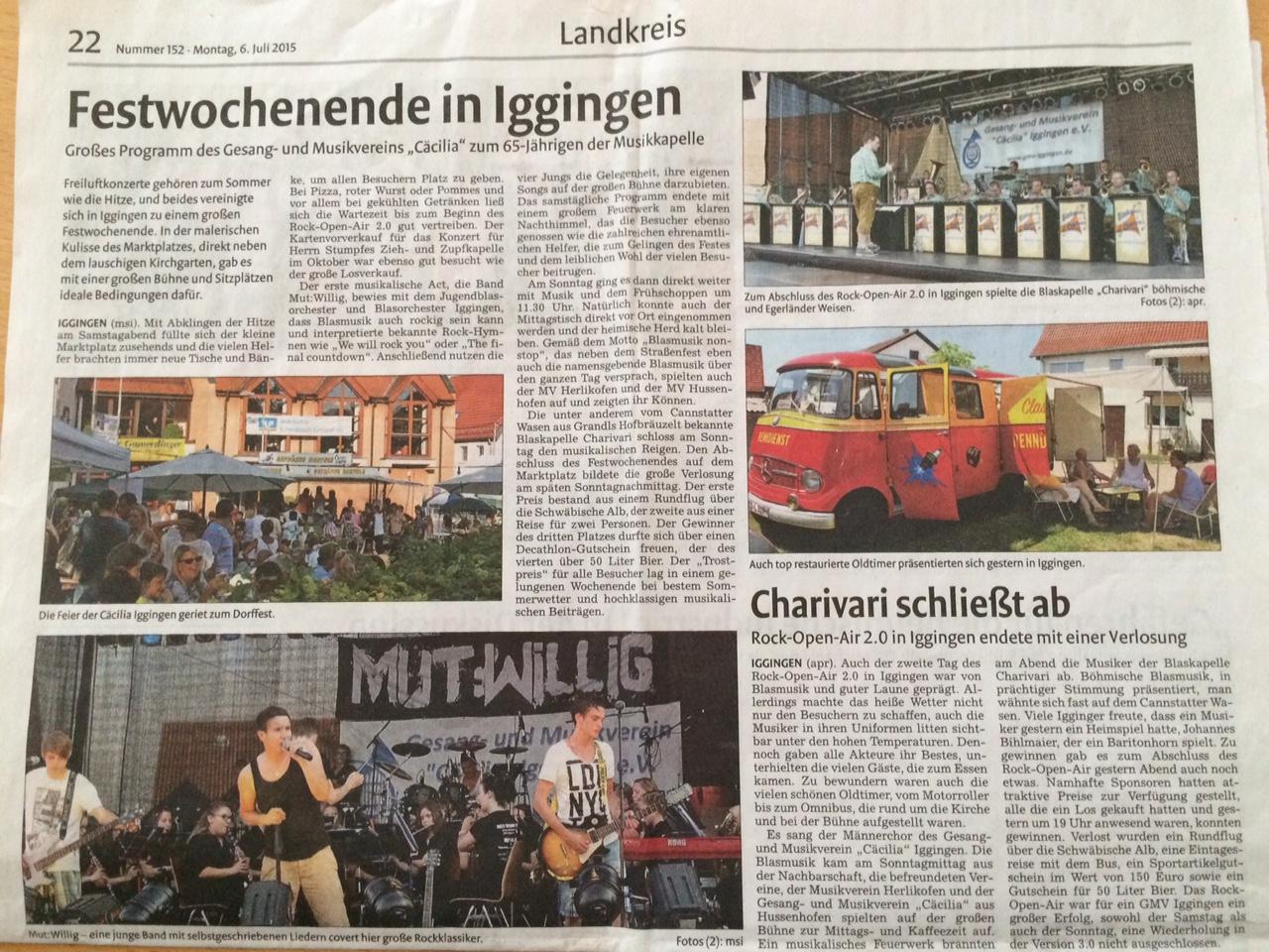 Berichterstattung Remszeitung vom 6.7.