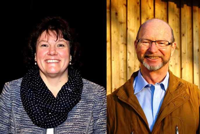 Schriftführerin Barbara Hammel-Martincic mit Stellvertreter Werner Jörg