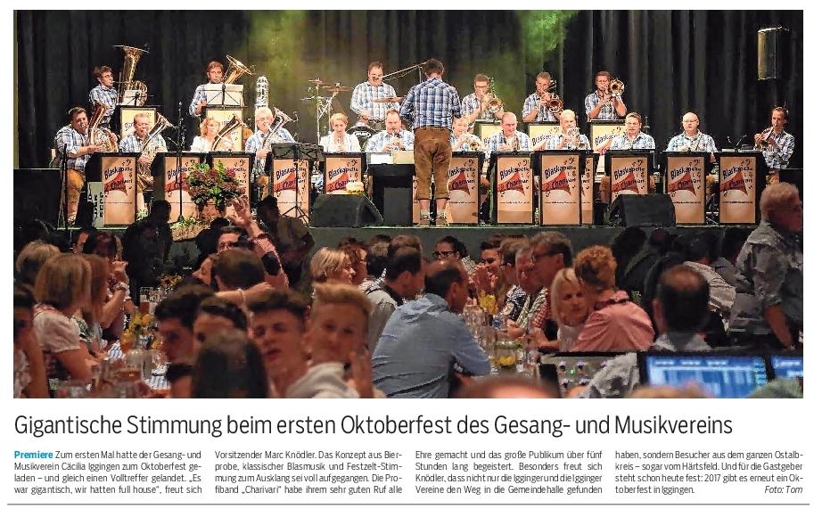 Nachbericht der Gmünder Tagespost vom 24.10.2016
