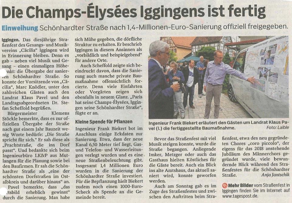 Artikel aus der Gmünder Tagespost vom 03.07.2017