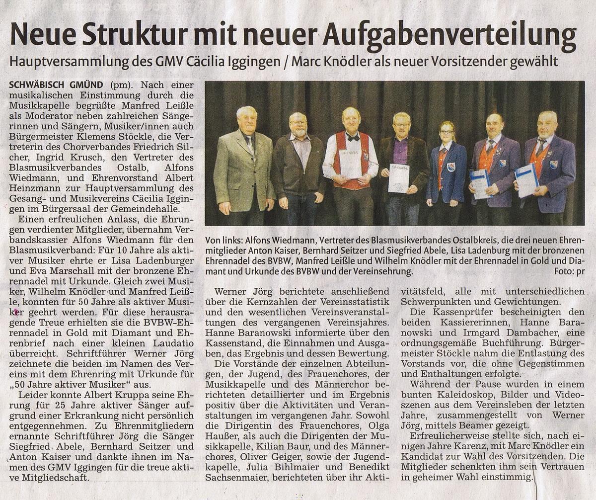 Bericht aus der Remszeitung vom 06.03.15