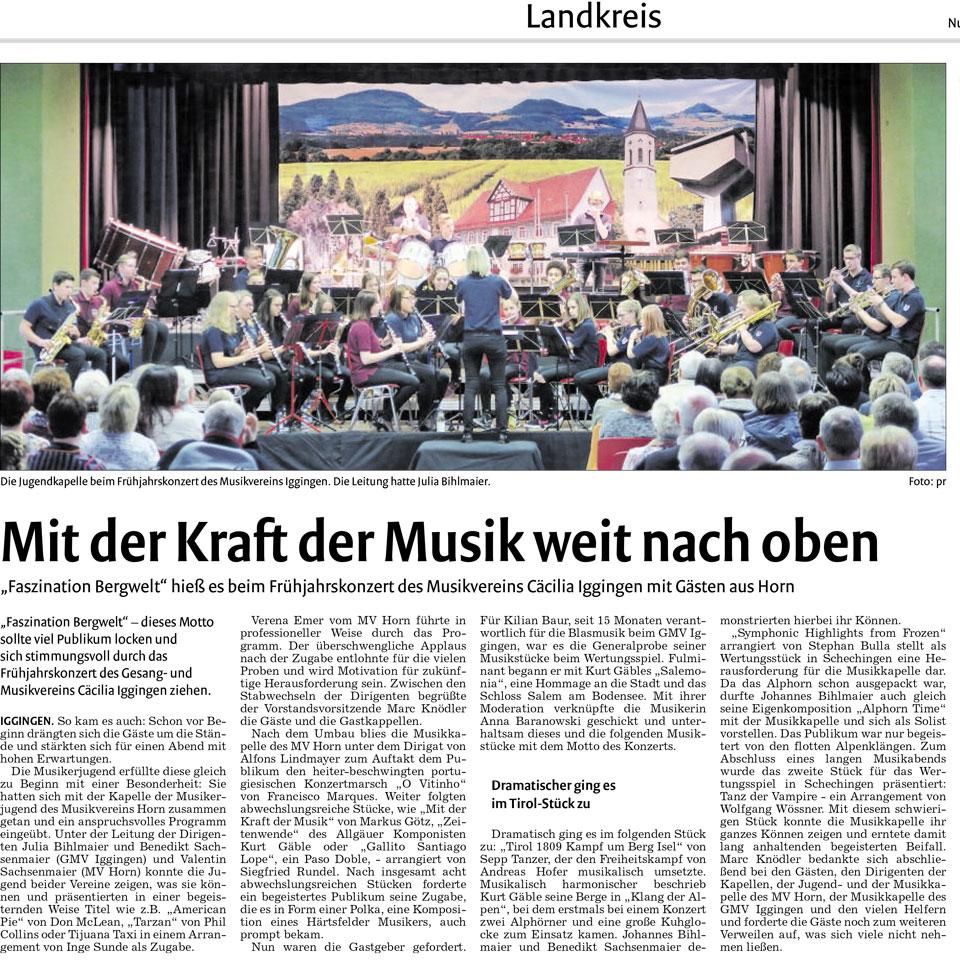 Zeitungsartikel aus der Remszeitung vom 02.05.2016