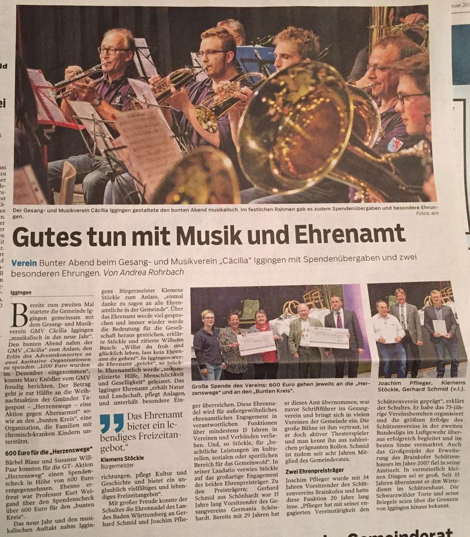 Gmünder Tagespost 24.1.2017