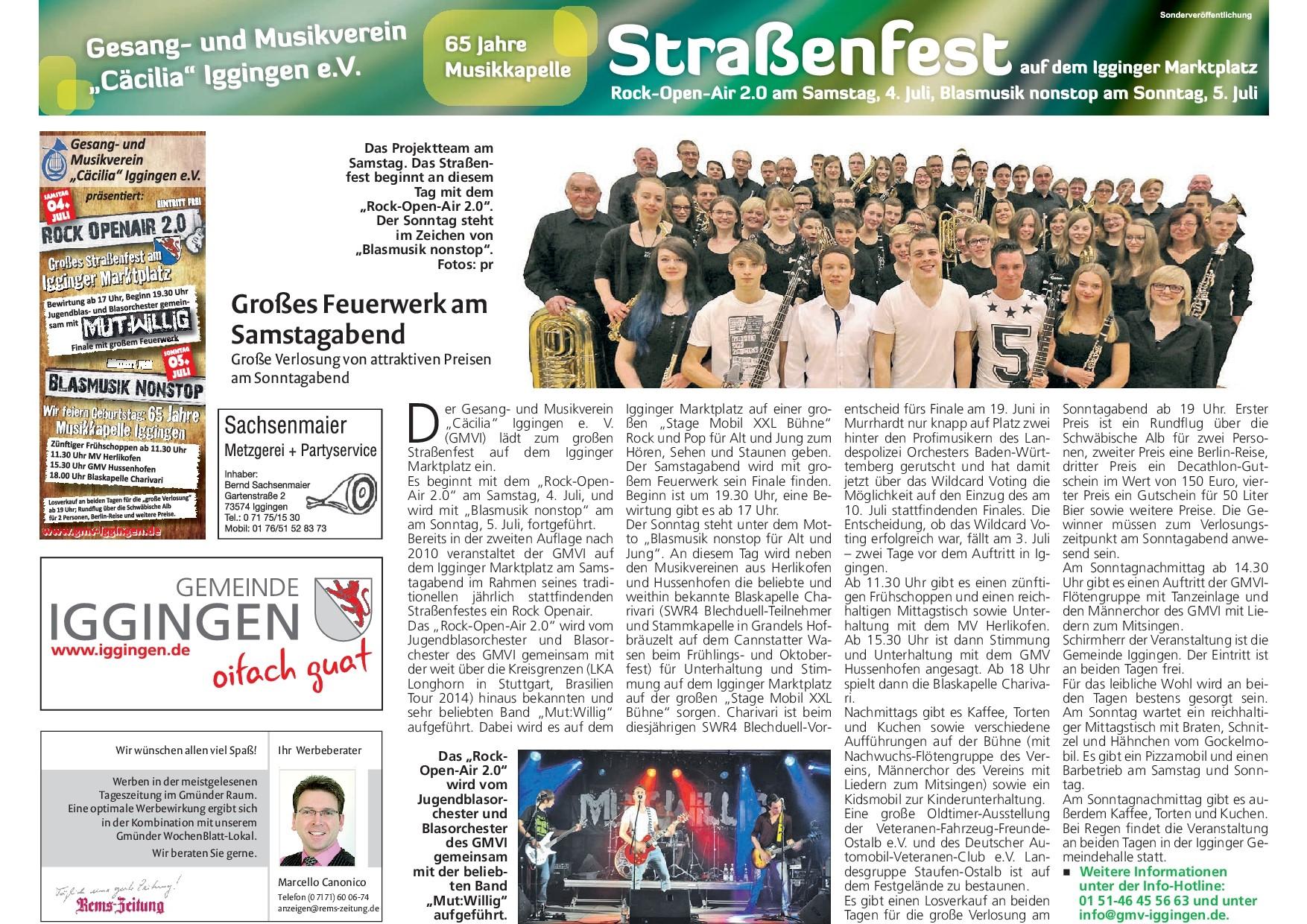 Kollektiv Wochenblatt der Remszeitung vom 1.7.